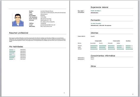 Plantilla Curriculum Basico Para Rellenar Modelo Curriculum